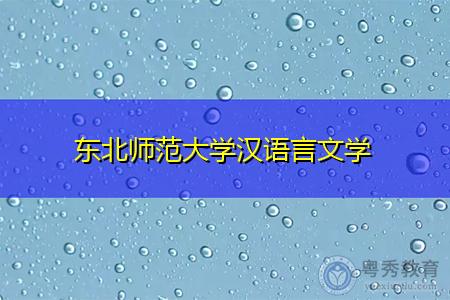 东北师范大学汉语言文学
