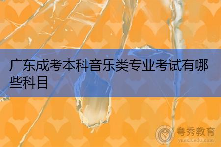 广东成考本科音乐类专业考试有哪些科目