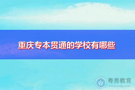 重庆专升本贯通的学校有哪些?