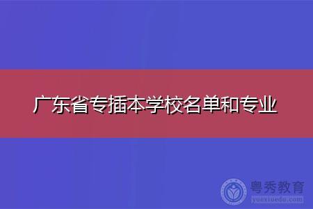 广东省专插本学校名单和专业?