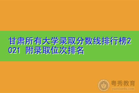 甘肃所有大学录取分数线排行榜2021