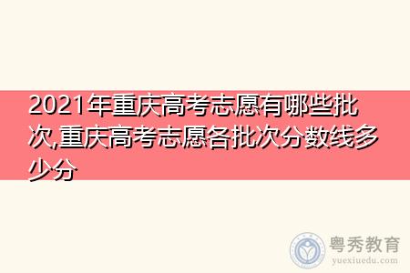 2021年重庆高考志愿有哪些批次,重庆高考志愿各批次分数线多少分