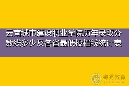 云南城市建设职业学院历年录取分数线多少及各省最低投档线统计表