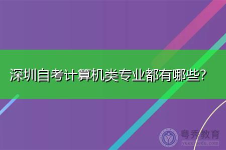 深圳自考计算机类专业都有哪些?