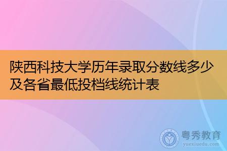 陕西科技大学历年录取分数线多少及各省最低投档线统计表