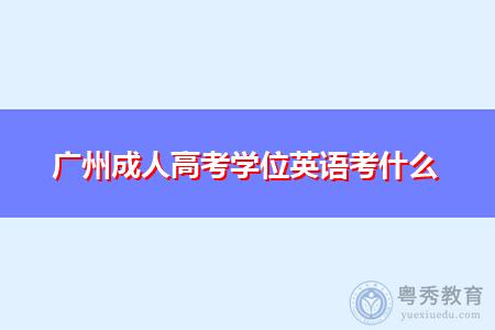 广州成人高考学位英语考什么内容?