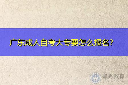 广东成人自考大专要怎么报名,学习方式有几种?