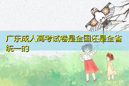 广东成人高考试卷是全国还是全省统一的(附高考复习攻略)