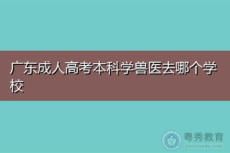 广东成人高考本科学兽医去哪个学校,获取本科文凭需要多久时间?