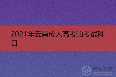2021年云南成人高考的考试科目及附加专业课