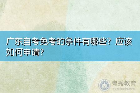 广东自考免考的条件有哪些,应该如何申请?