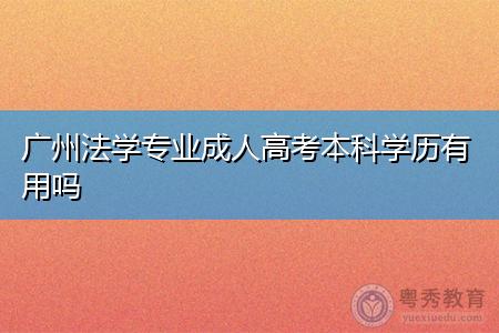 广州法学专业成人高考本科学历有用吗,报考需要什么条件?