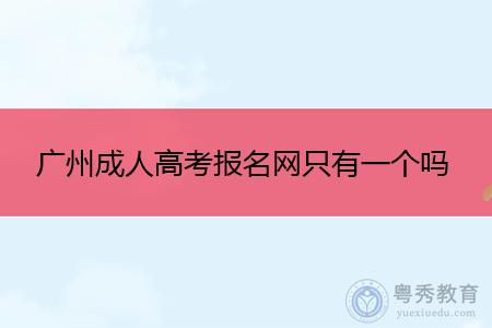 广州成人高考报名网只有一个吗,如何选择教学点进行报考?