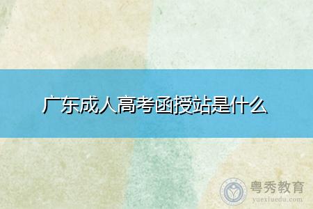 广东成人高考函授站是什么,有什么好处?
