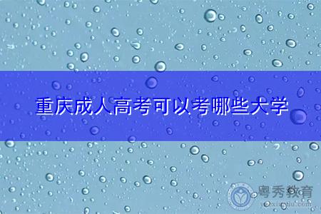 重庆成人高考被教育部批准可报考的大学有哪些?