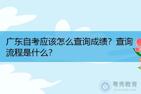 广东自考应该怎么查询成绩?查询流程是什么?