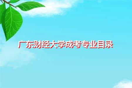广东财经大学成考专升本、高升本和高起专招生专业有哪些?