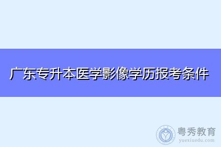 广东专升本医学影像学历报考条件和要求是什么?