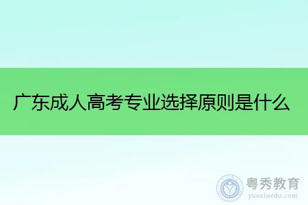 广东成人高考专业选择原则是什么,每年有几次入学考试?