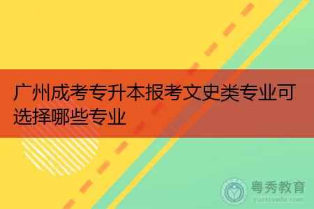 广州成考文史类专业可选择报考哪些专业,毕业后可从事什么工作?