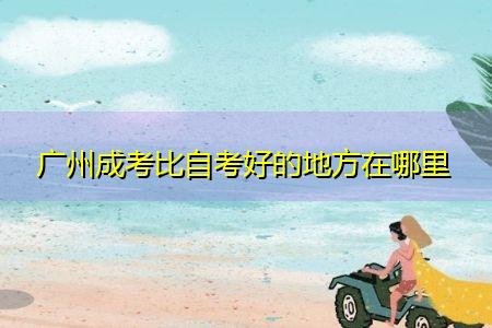 广州成考比自考好的地方在哪里,考生可选择的学习形式有哪些?