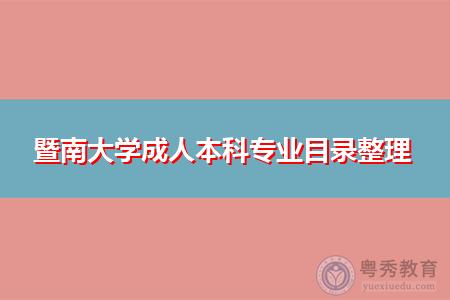 暨南大学成人本科专业目录整理