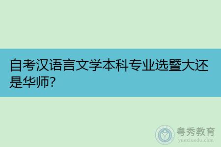 自考汉语言文学本科专业选暨大还是华师,毕业后可以从事什么工作?