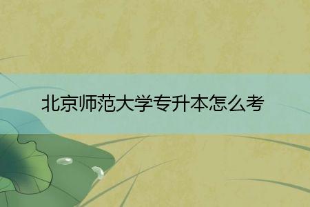 北京师范大学专升本怎么考,如何在教育官方网站上报名?