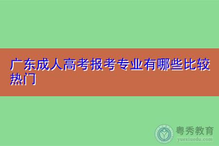 广东成人高考可报考的热门专业有哪些?