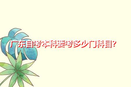广东自考本科要考多少门科目,有哪些学校和专业?