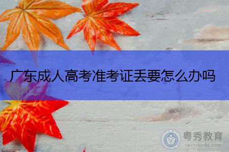 广东成人高考准考证丢了要怎么办,可以重新打印吗?