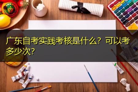 广东自考实践考核内容是什么,可以考多少次?