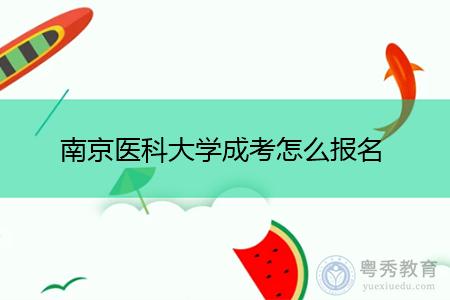 南京医科大学成考怎么报名?