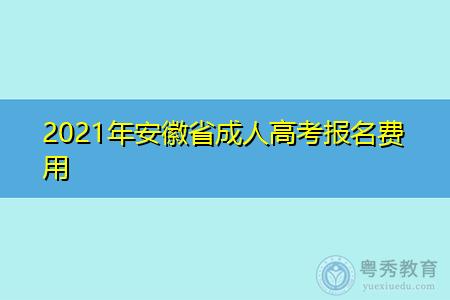 2021年安徽省成人高考如何在网上报名支付费用?