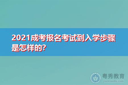 2021年成考报考到入学步骤是怎样的,考试科目有哪些?