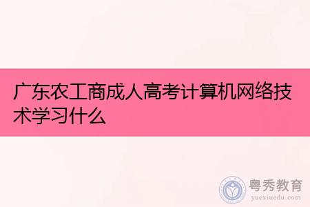 广东农工商成人高考计算机网络技术主要学习什么课程内容?