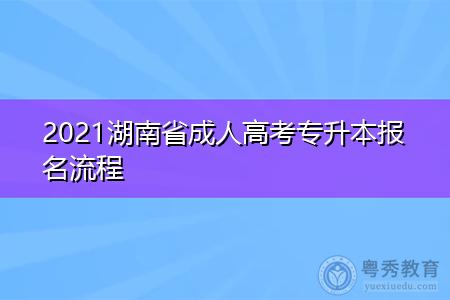 2021湖南省成人高考专升本报名现场确认流程是什么?