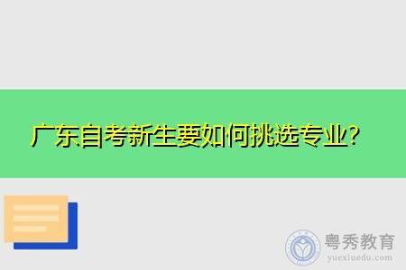 广东自考新生要如何挑选专业,过来人经验分享!