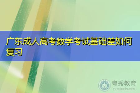 广东成人高考数学考试基础差要如何复习才能熟练掌握知识点?