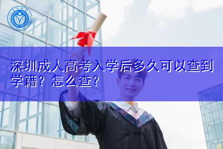 深圳成考学籍查询方法是什么,入学后多久可以查到?