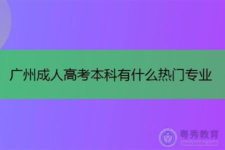 广州成人高考本科有什么热门专业可选择报考?