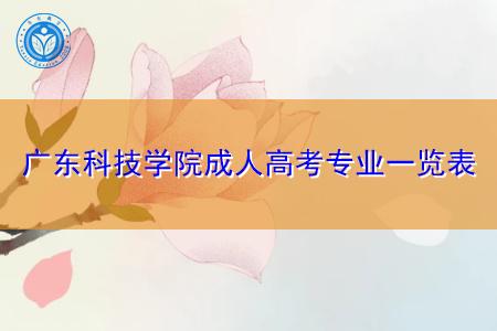 广东科技学院成人高考(专科/本科)专业都有哪些?