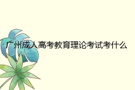 广州成人高考教育理论考试考什么内容?