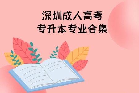 深圳成人高考专升本招生专业都有哪些?