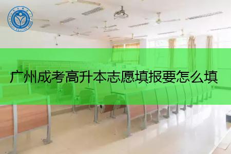 广州成考高升本志愿填报要怎么填?