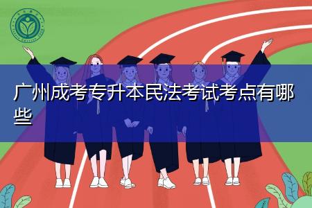 广州成考专升本民法考试有哪些考点?