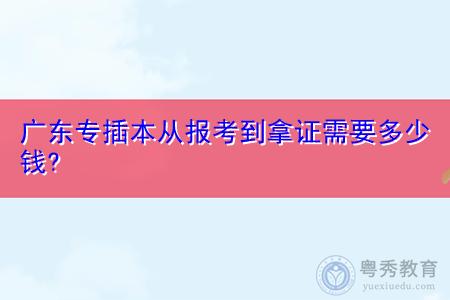 广东专插本从报考到拿证需要花费多少钱?