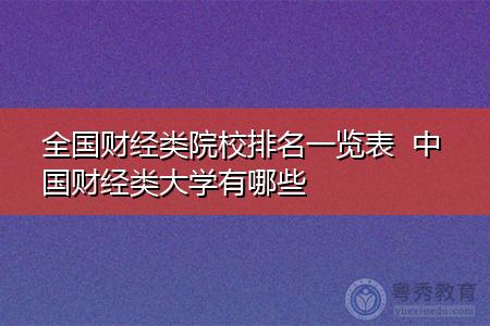 中国财经类大学有哪些(附院校排名一览表)