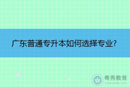 广东普通专升本选择专业应该遵循什么原则?
