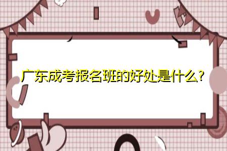 广东成考报考助学机构的好处是什么?